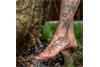 Fußkette Erbskette 1,3mm mit Ornament - 925 Silber