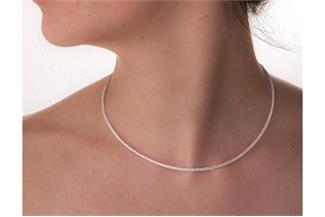 Fashion Omegahalsreifen 2mm - 925 Silber Länge: 40cm - 028ART5