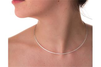 Fashion Omegahalsreifen 1,7mm - 925 Silber Länge: 40cm - 028NK0187x7