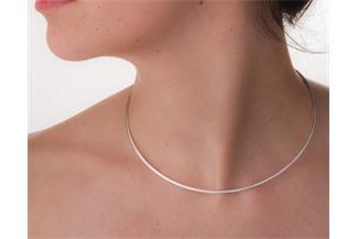 Fashion Omegahalsreifen 1,9mm - 925 Silber Länge: 40cm - 028NK0217x7