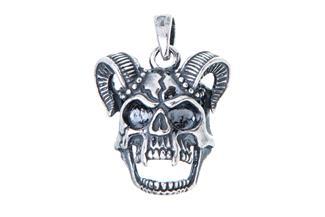 Anhänger Skull, Totenkopf - 925 Silber 072LU593