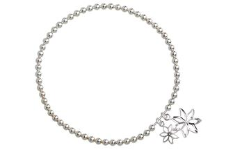 Elastic Elements Armband Flower - 925 Silber