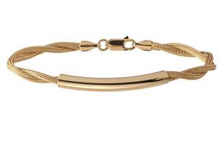 Fashion Armband - 925 Silber, vergoldet GOL187