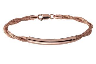 Fashion Armband - 925 Silber, rosé vergoldet GOL187