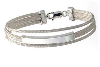 Fashion Gravurarmband - 925 Silber Sil188
