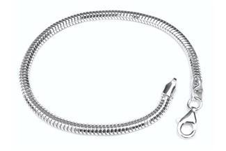 Schlangenkette Armband, achtkant 4mm - 925 Silber