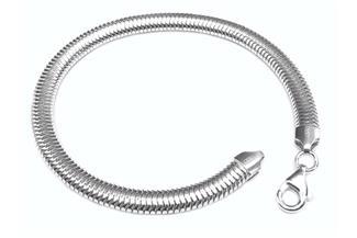 Schlangenkette Armband, oval 6mm