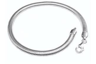 Schlangenkette Armband, oval 4,5mm - 925 Silber
