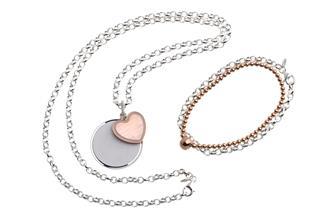 Schmuckset  925  Silber Erbskette mit Gravuranhänger und Armbändern