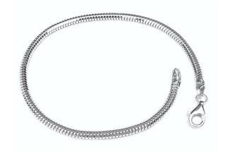 Schlangenkette Armband, achtkant 3mm