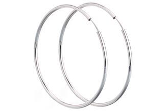 Creolen, Durchmesser 5cm - 925 Silber