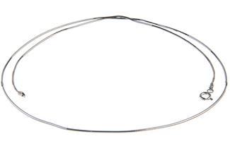 Schlangenkette, achtkant 1,5mm - 925 Silber
