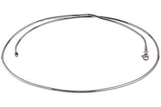 Schlangenkette, achtkant 2mm - 925 Silber