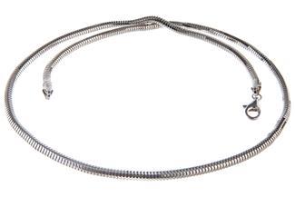 Schlangenkette, achtkant 4mm - 925 Silber