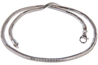 Schlangenkette, achtkant 5mm - 925 Silber
