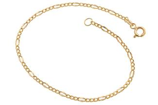 Figarokette Armband 2,4mm - 585 Gold