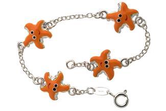 Kinder-Armband mit 4 Seesternen