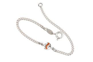 Kinder-Armband mit Fisch - 925 Silber