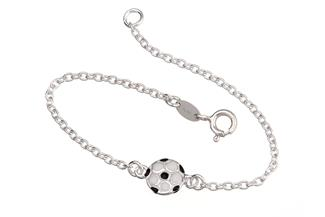 Kinder-Armband mit Fußball - 925 Silber