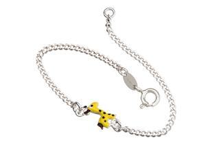 Kinder-Armband mit Giraffe - 925 Silber