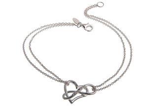 Armband mit Anhänger Herz und Unendlichkeitssymbol - 925 Silber