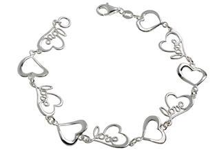 Armband Herzen - 925 Silber