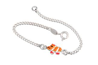 Kinder-Armband mit Hippo - 925 Silber