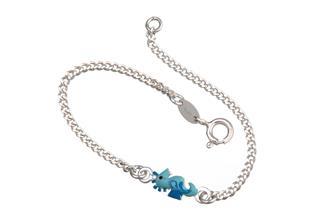 Kinder-Armband mit Seepferd - 925 Silber