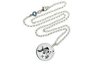 Kinderkette ChainMAGPIE mit Sternzeichen Fische J 925 Silber