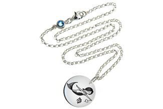 Kinderkette ChainMAGPIE Sternzeichen Jungfrau J 925 Silber