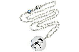 Kinderkette ChainMAGPIE mit Sternzeichen Schütze J 925 Silber