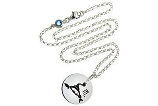 Kinderkette ChainMAGPIE Sternzeichen Skorpion J 925 Silber