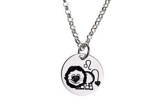 Kinderkette ChainMAGPIE mit Sternzeichen Löwe J 925 Silber