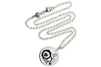 Kinderkette ChainMAGPIE mit Sternzeichen Löwe 925 Silber