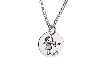 Kinder Kette ChainMAGPIE mit Sternzeichen Schütze M - 925 Silber