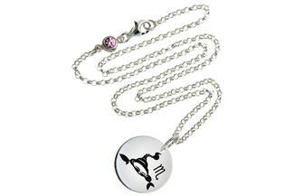 Kinderkette ChainMAGPIE mit Sternzeichen Skorpion 925 Silber
