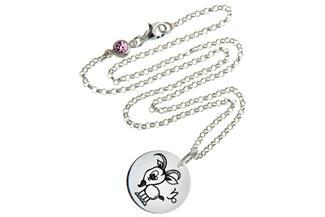 Kinder Kette ChainMAGPIE mit Sternzeichen Steinbock - 925 Silber