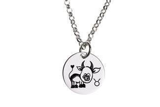 Kinder Kette ChainMAGPIE mit Sternzeichen Stier - 925 Silber