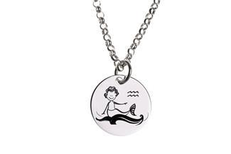 Kinder Kette ChainMAGPIE mit Sternzeichen Wassermann - 925 Silber