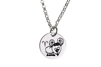 Kinder Kette ChainMAGPIE mit Sternzeichen Widder - 925 Silber 925 Silber