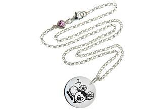 Kinderkette ChainMAGPIE mit Sternzeichen Widder 925 Silber