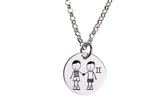 Kinder Kette ChainMAGPIE mit Sternzeichen Zwilling J - 925 Silber 925 Silber