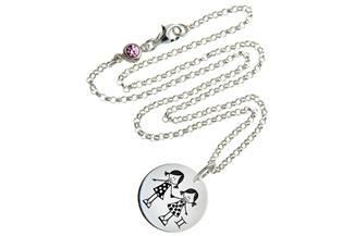 Kinder Kette ChainMAGPIE mit Sternzeichen Zwilling M - 925 Silber