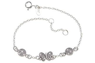 Fashion Line Armband Butterfly 1 - 925 Silber
