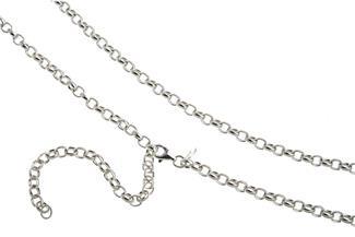 Bauchkette Erbskette 4mm - 925 Silber