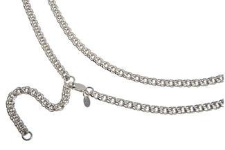 Bauchkette Garibaldi 5mm - 925 Silber
