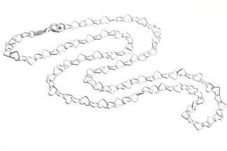 Bauchkette Herzen - 925 Silber