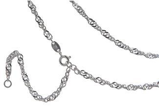 Bauchkette Singapur 3,3mm - 925 Silber