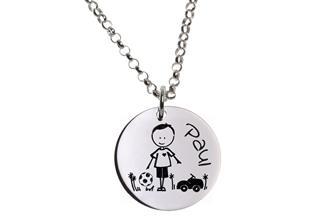 Kinder Kette mit Gravuranhänger Boy - ChainMAGPIE 925 Silber