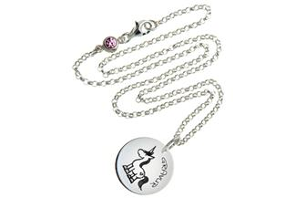 Kinder Kette mit Gravuranhänger Einhorn - ChainMAGPIE 925 Silber
